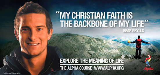 Image result for bear grylls image alpha